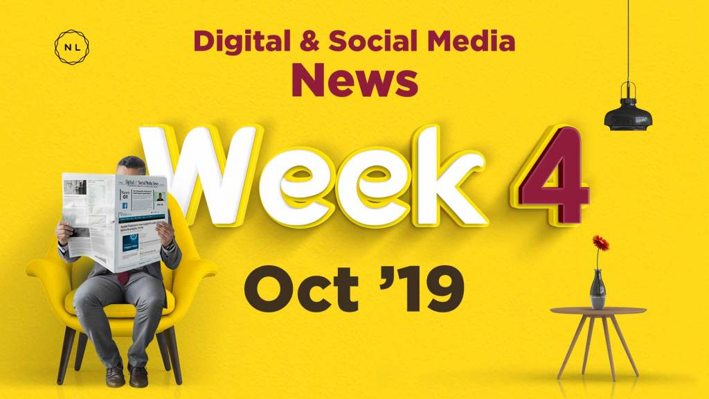 Digital and Social Media News for Nonprofit Church Ministry - October 2019, Week 4