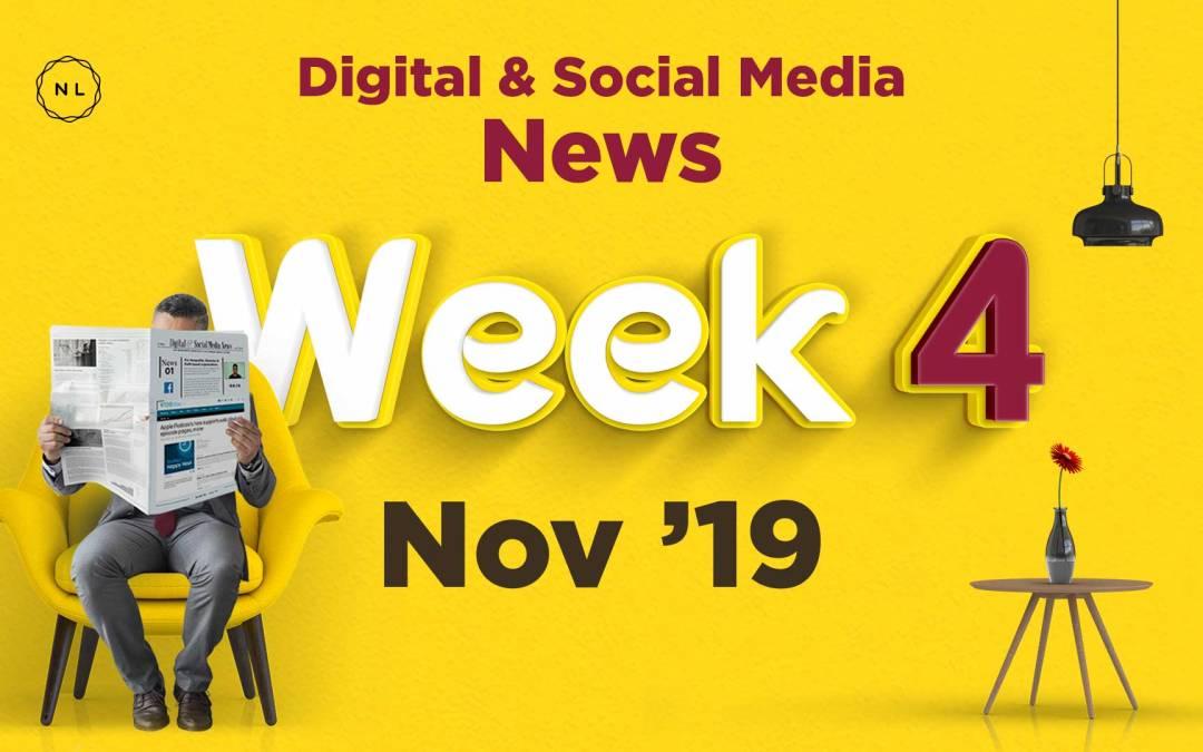[Week 4, Nov 19] Digital & Social Media News for Nonprofits & Churches