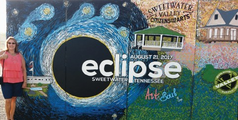 """Doris Salard Whatley went on a """"girls road trip"""" with friends Margaret Daigle and Robin Miller to Sweetwater, Tenn., to view the total solar eclipse."""