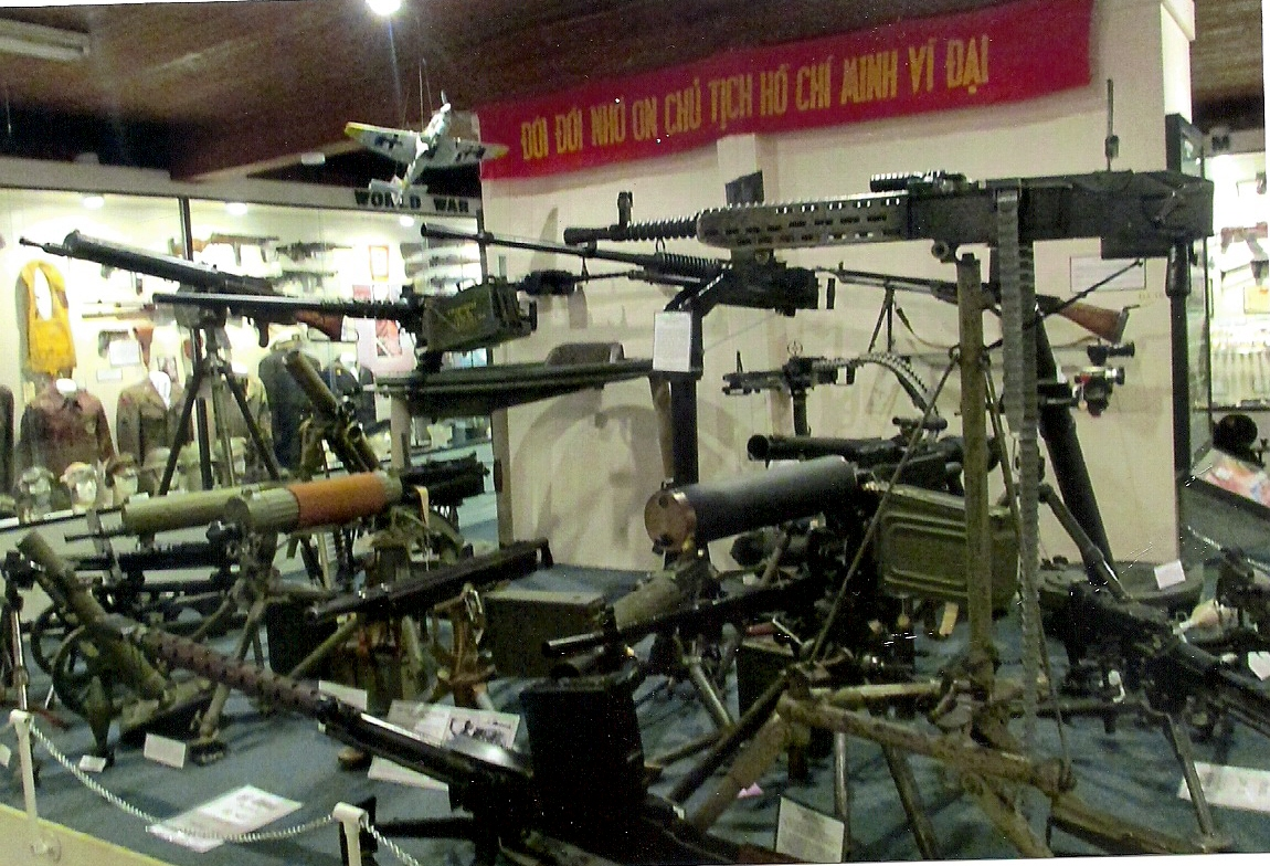 Large display of machine guns located inside the North Louisiana Military Museum. (Robertson Collection)