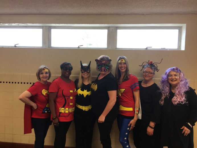 Those dressed for Halloween at the Clerk of Courts Office were, from left, Faye Megason, Kathryn Holden, Casey Harris, Amy Vercher, Shelley Poche, Phyllis Carpenter and Linda Cockrell.