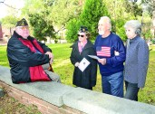 Ted Fowler, left, is the Commander of the VFW, Post 1962 of Natchitoches. His wife Dee Fowler is a veteran herself and Commander of the American Legion, Post 10 of Natchitoches. She is also a member of the American Legion Auxiliary, Unit 10. Also pictured are Harold Collier and his wife, Jo Ann. Collier is a veteran of 26 years who spent much time overseas.