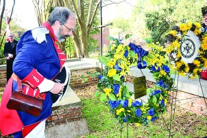 Tony Vets of Colfax presented a wreath from the Southern District, SE region of the SAR. He is a member of the local Natchitoches SAR chapter.