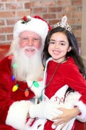 Darvy Allison with Santa.