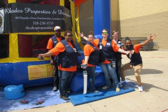 Pickup associates for the Natchitoches Walmart are, from left, Sammy Addison, Katrina Charles, Melissa Hutson, Nikki Burkett, William George and E-commerce manager Keith Domingue.
