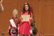 From left are Fourth Grade Christmas Angel and Photogenic Winner Olivia Vickers and First Runner Up Trinity Audirsch.