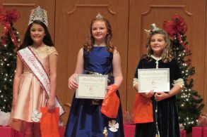 From left are Fifth Grade Christmas Angel and Photogenic Winner Kyleigh Faith Severin, First Runner Up Jaylee Perot and Second Runner Up Brooke Norsworthy.