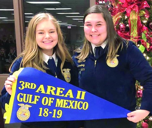 Salem Johnson placed third in Area II in Gulf of Mexico speaking contest.