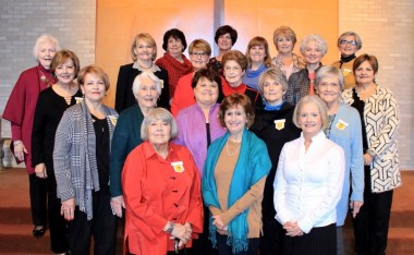 Chapter AG On first row from left are Janet Flynn, Anne Taylor and Susu Burke. On second row are Bonnie Pace, Mildred McTyre, Margaret Berry, Anita Pierce and Jane Hall. On third row are Lanell Causey, Carol Steadman, Beth Hatch, Alma Alost, Jennifer Maggio, Kathy Carter and Soni Sers. On fourth row are Virginia Crossno, Frances Hoffpauir, Connie Scruggs, Sandra McCullen and Gayle Howell.