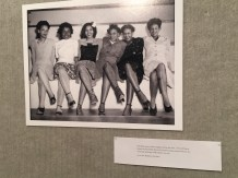 Photographs like these adorn the walls of the gallery. From the National Archives, stockings like these worn by ladies at the Seattle Naval Air Station Spring Formal Dance, were so popular they were in short supply.