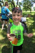 Mason Fitzgerald seeded his own sustainable plant at the festival.