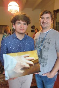 First place winner Collin Serigne with his teacher at LSMSA, Marcus Journey.