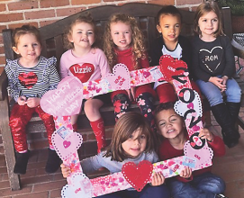 Trinity kids love Valentine's Day!