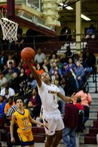 Devonta Snow goes up for the easy layup attempt. By LeRon Massey