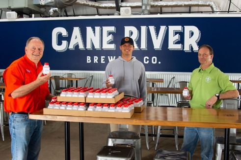 Cane River Brewing Company produces sanitizer for essential personnel, community