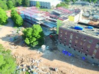 LSMSA residence hall project halfway through completion