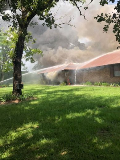 NPSO, FD 9 and Red River Fire respond to Grappes Bluff blaze