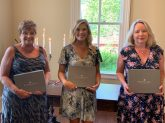 From left are Sustainer of the Year Brenda Rinehart, Active Member of the Year Cherish Clark and Provisional of the Year Holly Methvin. Not pictured is Husband of the Year Josh Johnson.