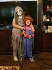 Autumn Downs and her little brother Garrett Downs.