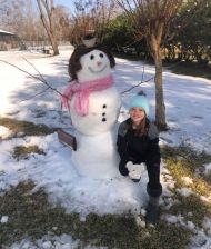 Leigha Busby age 9 going shopping with her Princess SnowGirl