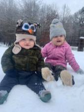 Rowdy and Evelyn Dubois (8 months and 2yr)