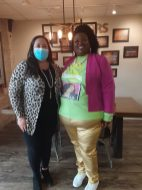 Natchitoches School Board Member Reba Phelps and Precious Barber.