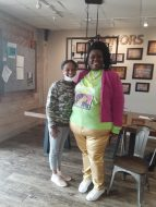 Natchitoches City Councilwoman Rosemary Washington-Elie and Precious Barber.