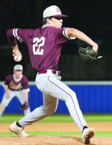 #22 Jesse Taitano pitched four innings Saturday