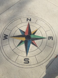 COMPASS STAMP W DETAILED ACID TOUCHES