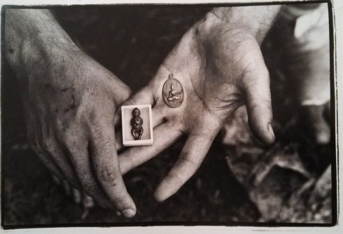 Philip Blenkinsop photo. Thai animist amulets of a dead fetus said to protect one from danger. Many Cambodian soldiers believe that it can make bullets bounce off you
