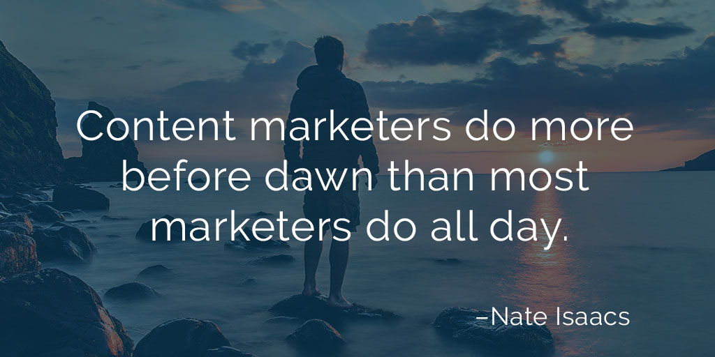 Image quote about the productivity of freelance content marketers