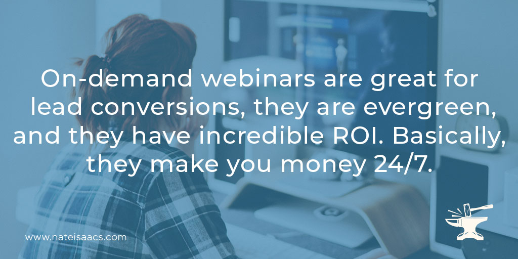 Image quote about the benefits of on-demand webinars