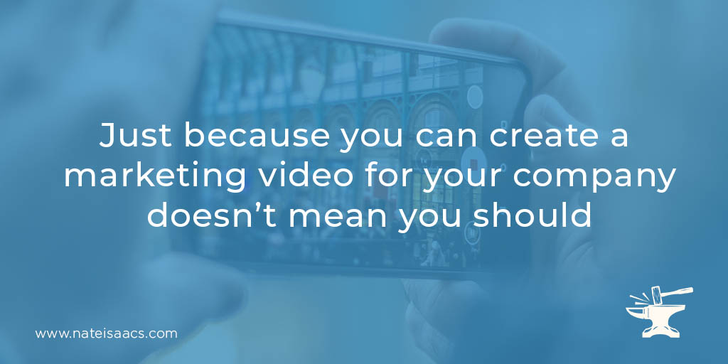 Image quote for a post about the seven common video marketing mistakes and tips to avoid them.