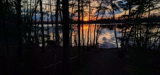 Sunset at Fall Lake Campground (looking north into the BWCA-Wilderness)