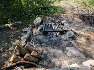 Fire grate at BWCA Campsite#1533