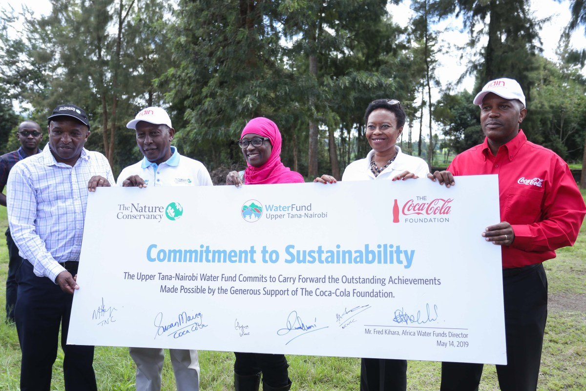 Coca-Cola Foundation and The Nature Conservancy partner with Nairobi Water to Improve Water Access for Residents