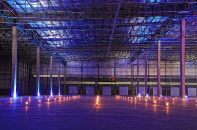 Hundreds of Candles spread out over the Warehouse Floor at Griffin