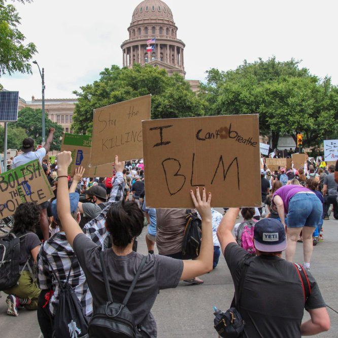 A Peaceful Protest In Austin, Texas