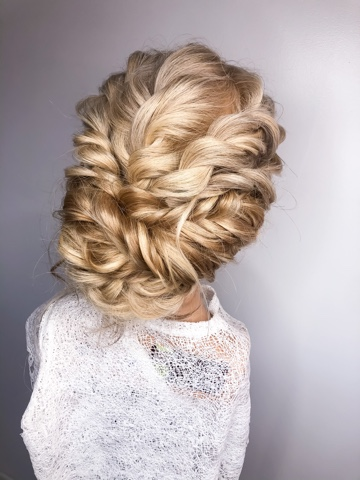 romantic twisted updo