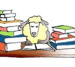 cartoon-drawings-of-animals-sheep-reading