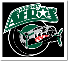 As I recounted at the game, this logo has been their logo for as long as I can remember, possibly since the beginning of the team. It's an airplane. Ignore that it looks like a flying shark.
