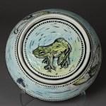 bowl (calla lillies reverse)