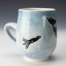 Mug: Sperm Whale, Squid
