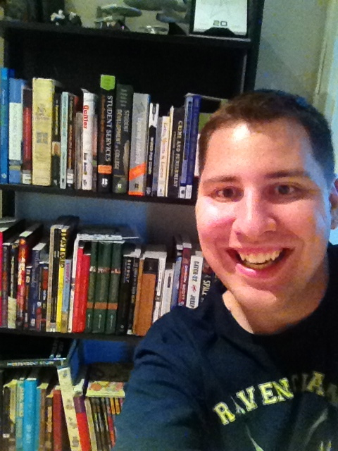 I read early in the week about a new trend called a Bookhselfie - people taking selfies with their bookshelves. I took one and posted it across my social networks. Made a few new friends, and was actually linked in some minor news websites articlel. So. That's pretty cool.
