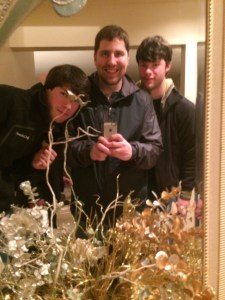 NYE Mirror selfie, with the twins. Not really sure this needs more explanation.