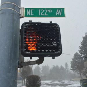 Stoplight on 122nd Avenue
