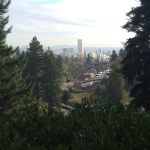 A view of Portland from the downhill portion of my current regular 5k run.