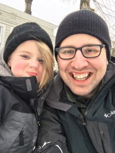 Conor and I took a Playing-In-The-Snow selfie.