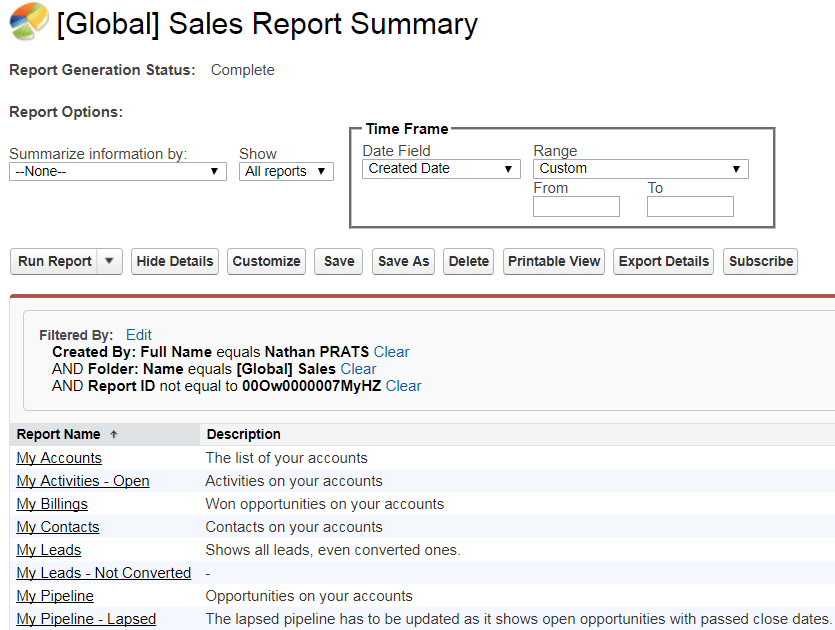 A report type based on reports