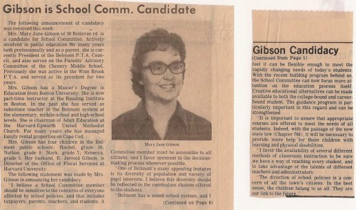 Nathan S. Gibson - MJG School Committee announcement